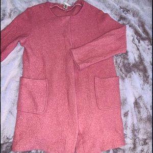 Wool, pink coat. Size M